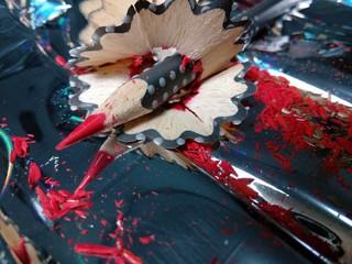Reflejos lápiz rojo