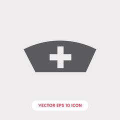 medical hat icon vector