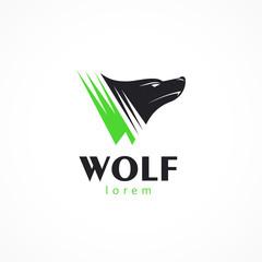 Wolf logo letter W