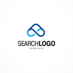 Search logo bunoculars