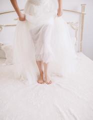 bride's feet leg