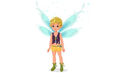 Little cute boy fairy