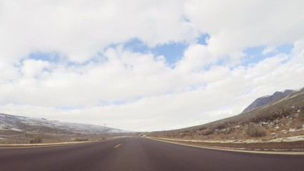 Wall Mural - Driving West on mountain highway to Steamboat Springs.