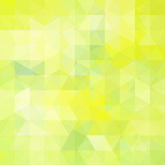 Geometric pattern, triangles vector background in green, yellow ' tones. Illustration pattern