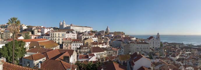 Lissabon Panorama Alfama und  Mosteiro De Sao Vicente De Fora