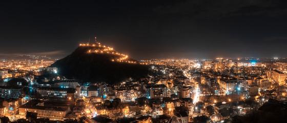 Plovdiv city at night - european capital of culture 2019, Bulgaria