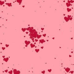Red heart love confettis. Valentine's day explosio