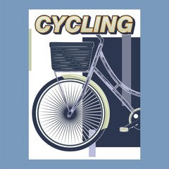 Bicycle Race Contest Poster Flyer Template. Vector Illustration  - Vector