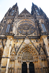 Prague, Czech Republic, May 12, 2018 - St. Vitus Cathedral, Prague Castle. Monument of history and architecture.