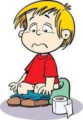 child sit on the potty