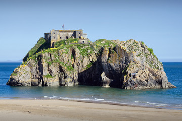 A Palmerston fort ruin on St Catherine's Island Tenby Wales