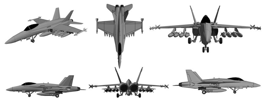 Vector jet aircraft for soldiers