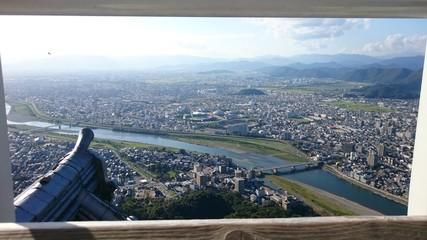 岐阜城から見下ろす岐阜市