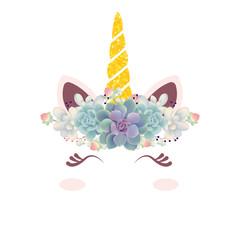 cute floral unicorn