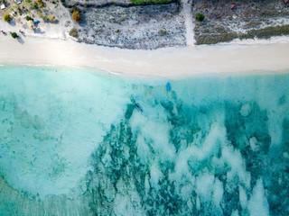 Indonesia, Sumbawa, West Sumbawa, Aerial view of Jelengah beach