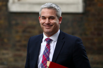 Britain's Secretary of State for Exiting the European Union Stephen Barclay leaves Downing Street, London