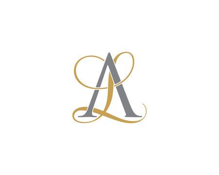 AL LA Letter Logo Icon 002