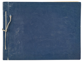 cover old blue photo album for photos