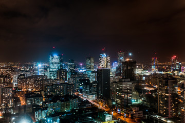 Fototapeta Warsaw city view at night obraz
