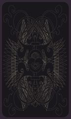 Tarot cards - back design, Pluto