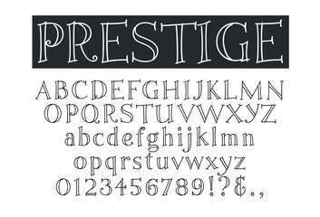 Prestige Stroke Font