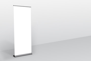 Rollup Banner, Standee Mockup grey color background