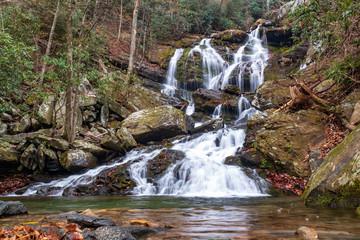 Catawba Falls, North Carolina, Great Smoky Mountains National Park Wall mural