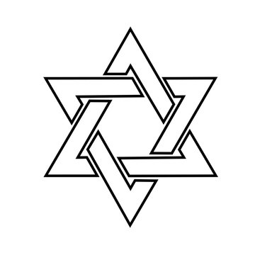 The star of David logo in the vector.