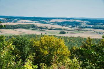 Blick auf die Lngen Berge im Coburger Land Oberfranken