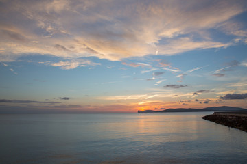 Sun set at Alghero, Sardina, Italy