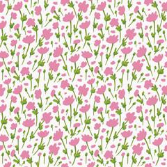 Flower Pattern. Endless Background. Seamless