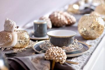 luxury coffe plate set still life