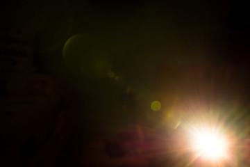Beam of light in the dark