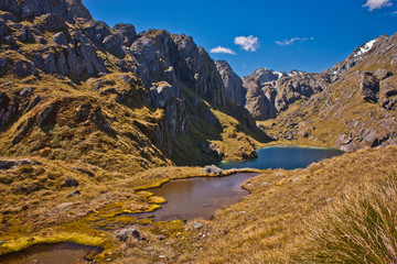 Beatiful famous Routeburn track in New Zealand