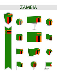 Zambia Flat Flag Collection