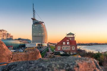 Sonnenuntergang in Bremerhaven Fototapete