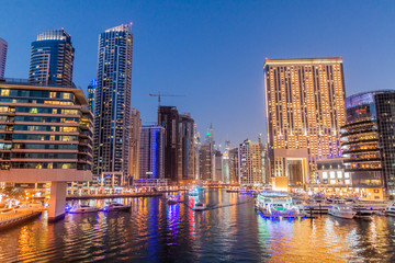 High rise buildings in Dubai Marina, UAE