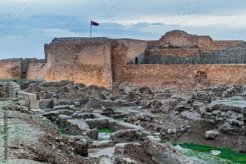 Ruins of Bahrain Fort (Qal'at al-Bahrain) in Bahrain