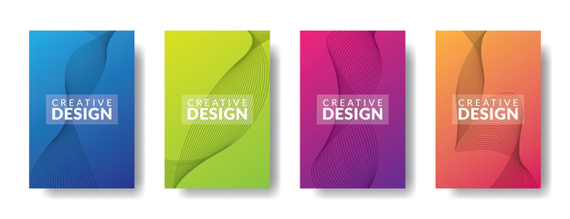 Vector infographic design template with 4 types or stages, vector icons, can be used for diagrams, information, banners, tips and activity reports, gradient color with 4 colors