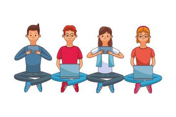 group of friends cartoon