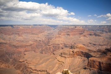 Scenic view of bottom of Grand Canyon