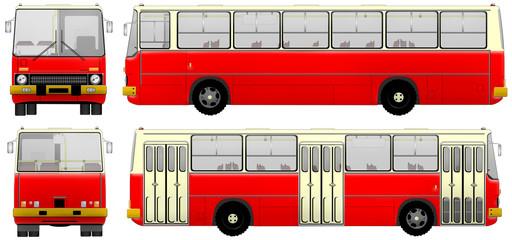 Autobus z czasów PRL Wall mural