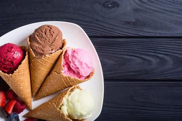 Ice cream waffle cones