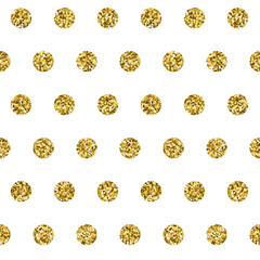 Seamless vector pattern with gold element