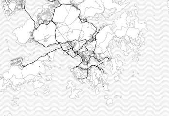 Area map of Hong Kong, China