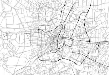 Area map of Bangkok, Thailand