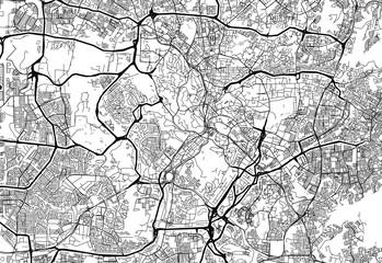 Area map of Kuala Lumpur, Malaysia