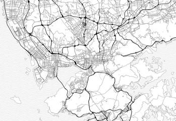 Area map of Shenzhen, China