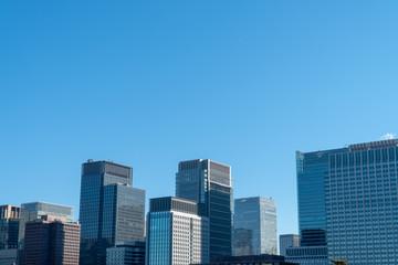 東京の高層ビル群(ビジネス)