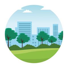 city landscape cartoon